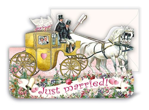CARD - JUST MARRIED (WITH ENVELOPE)