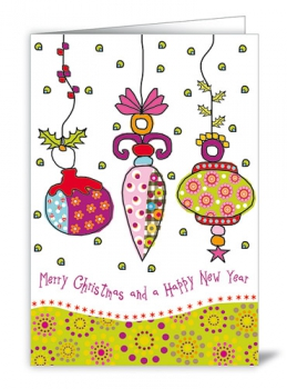 CARD - MERRY CHRISTMAS AND A HAPPY NEW YEAR (WITH ENVELOPE)