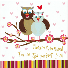 CARD - CONGRATULATIONS ! YOU'RE THE PERFECT PAIR !