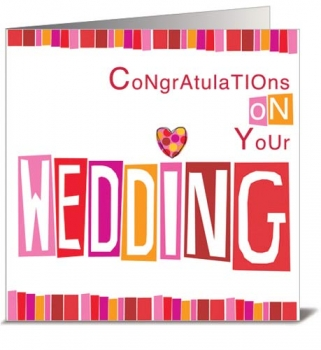 CARD - CONGRATULATIONS ON YOUR WEDDING (WITH ENVELOPE)