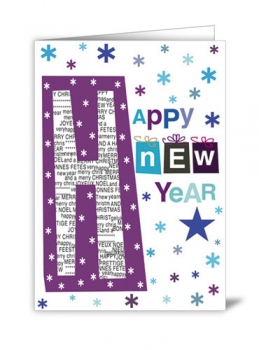 CARD - HAPPY NEW YEAR (WITH ENVELOPE)