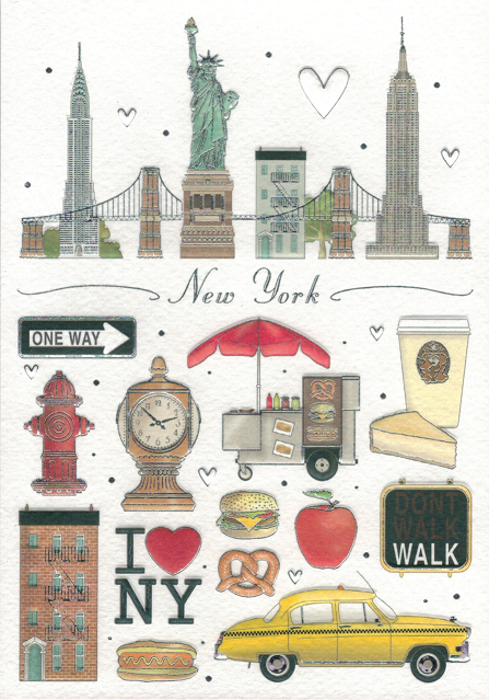 NEW YORK CARD WITH ENVELOPE