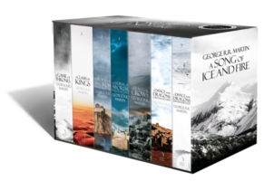 A SONG OF ICE AND FIRE - A GAME OF THRONES: THE STORY CONTINUES : THE COMPLETE BOX SET OF ALL 7 BOOK