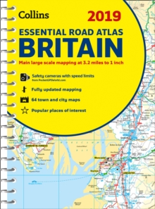 2019 COLLINS ESSENTIAL ROAD ATLAS BRITAIN