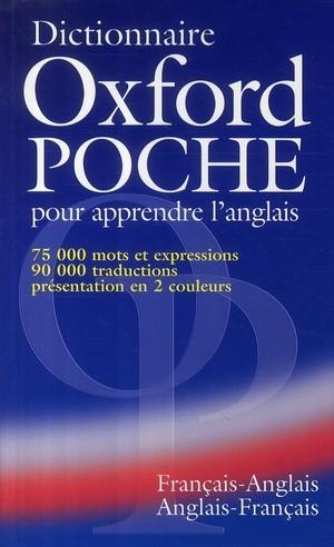 OXFORD POCHE DICTIONNAIRE BILINGUE ANGLAIS FRANCAIS - FRANCAIS ANGLAIS