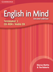 ENGLISH IN MIND 1 (2ND EDITION) TESTMAKER CD-ROM AND AUDIO CD
