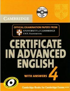 CAMBRIDGE CERTIFICATE IN ADVANCED ENGLISH FOR UPDATED EXAM VOLUME 4 PACK WITH ANSWERS