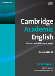 CAMBRIDGE ACADEMIC ENGLISH C1 ADVANCED CLASS AUDIO CDS
