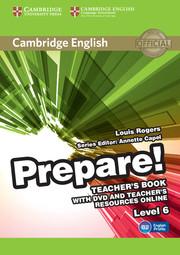 CAMBRIDGE ENGLISH PREPARE! 6 TEACHER'S BOOK WITH DVD AND TEACHER'S RESOURCES ONLINE