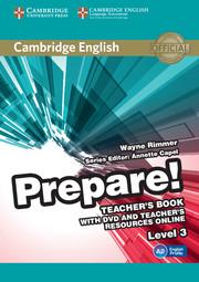 CAMBRIDGE ENGLISH PREPARE! 3 TEACHER'S BOOK WITH DVD AND TEACHER'S RESOURCES ONLINE