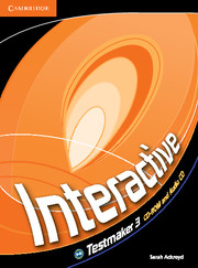 INTERACTIVE 3 TESTMAKER CD-ROM & AUDIO CD