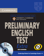 CAMBRIDGE PET EXTRA STUDENT'S BOOK WITH KEY + CD-ROM + CDS