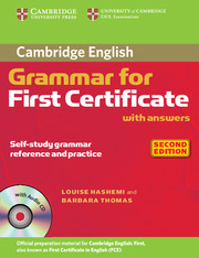 CAMBRIDGE GRAMMAR FOR FIRST CERTIFICATE 2ND EDITION WITH ANSWERS + CD
