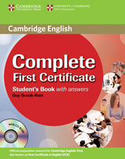 COMPLETE FIRST CERTIFICATESTUDENT'S BOOK WITH ANSWERS + CD-ROM