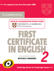 CAMBRIDGE FCE FOR UPDATED EXAM VOLUME 2 STUDENT'S BOOK WITHOUT ANSWERS