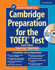 CAMBRIDGE PREPARATION FOR THE TOEFL® TEST, 4TH EDITION + CD-ROM