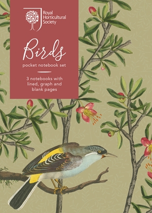 RHS BIRDS POCKET NOTEBOOK SET