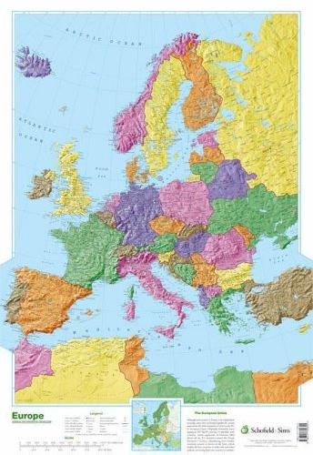 POSTER - MAP OF EUROPE
