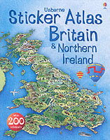 STICKER ATLAS OF BRITAIN & NORTHERN IRELAND