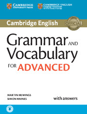 GRAMMAR AND VOCABULARY FOR ADVANCED WITH ANSWERS AND AUDIO
