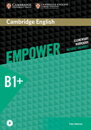CAMBRIDGE ENGLISH EMPOWER INTERMEDIATE WORKBOOK WITHOUT ANSWERS WITH AUDIO