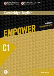 CAMBRIDGE ENGLISH EMPOWER ADVANCED WORKBOOK WITHOUT ANSWERS WITH AUDIO