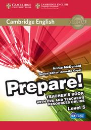 CAMBRIDGE ENGLISH PREPARE! 5 TEACHER'S BOOK WITH DVD AND TEACHER'S RESOURCES ONLINE