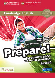 CAMBRIDGE ENGLISH PREPARE! 5 STUDENT'S BOOK AND ONLINE WORKBOOK WITH TEST BANK