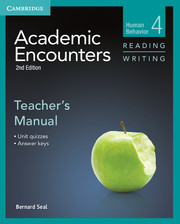 ACADEMIC ENCOUNTERS LEVEL 4 TEACHER'S MANUAL READING AND WRITING