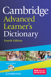 CAMBRIDGE ADVANCED LEARNER'S DICTIONARY 4TH EDITION WITH CD-ROM