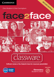 FACE2FACE SECOND EDITION ELEMENTARY CLASSWARE DVD-ROM
