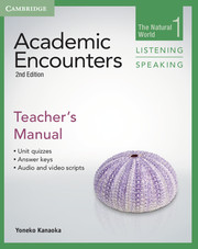 ACADEMIC ENCOUNTERS SECOND EDITION LEVEL 1 TEACHER'S MANUAL LISTENING AND SPEAKING