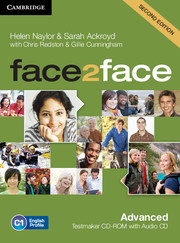 FACE2FACE SECOND EDITION ADVANCED TESTMAKER CD-ROM AND AUDIO CD