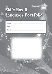 KID'S BOX UPDATED SECOND EDITION 5 LANGUAGE PORTFOLIO