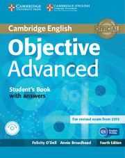 OBJECTIVE ADVANCED 4TH ED. STUDENT'S BOOK WITH ANSWERS, CD-ROM & AUDIO CDS