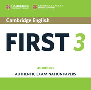 CAMBRIDGE ENGLISH FIRST 3 AUDIO CDS (2)