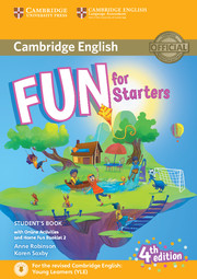 FUN FOR STARTERS FOURTH EDITION STUDENT'S BOOK WITH HOME FUN BOOKLET AND ONLINE ACTIVITIES