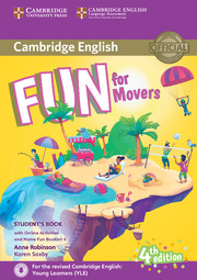 FUN FOR MOVERS FOURTH EDITION STUDENT'S BOOK WITH HOME FUN BOOKLET AND ONLINE ACTIVITIES
