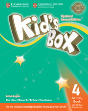 KID'S BOX UPDATED SECOND EDITION 4 ACTIVITY BOOK WITH ONLINE RESOURCES