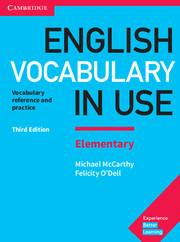 ENGLISH VOCABULARY IN USE ELEMENTARY 3RD EDITION BOOK WITH ANSWERS