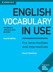 ENGLISH VOCABULARY IN USE PRE-INTERMEDIATE AND INTERMEDIATE 4TH EDITION WITH ANSWERS