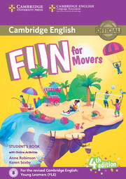 FUN FOR MOVERS FOURTH EDITION STUDENT'S BOOK WITH AUDIO WITH ONLINE ACTIVITIES