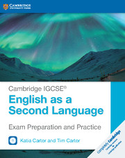 CAMBRIDGE IGCSE? ENGLISH AS A SECOND LANGUAGE EXAM PREPARATION GUIDE 2ND EDITION PAPERBACK WITH AUDI
