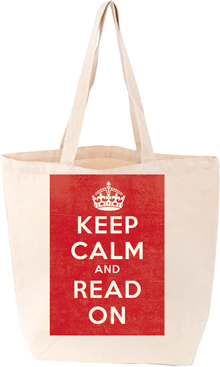 KEEP CALM & READ ON TOTE BAG