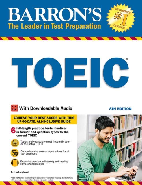 BARRON'S TOEIC WITH DOWNLOADABLE AUDIO 8TH EDITION