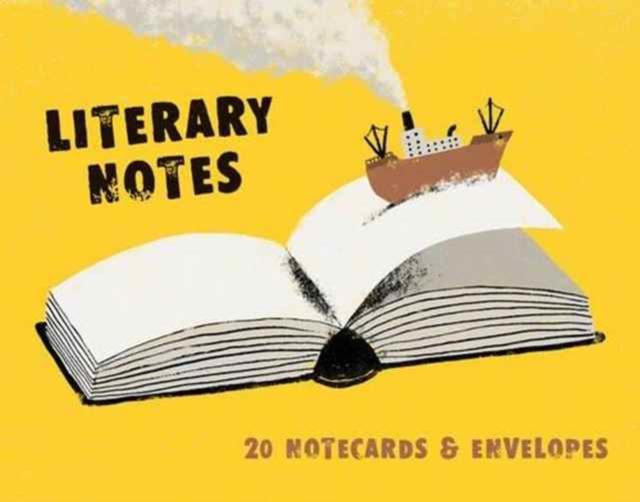 LITERARY NOTES : 20 NOTECARDS & ENVELOPES