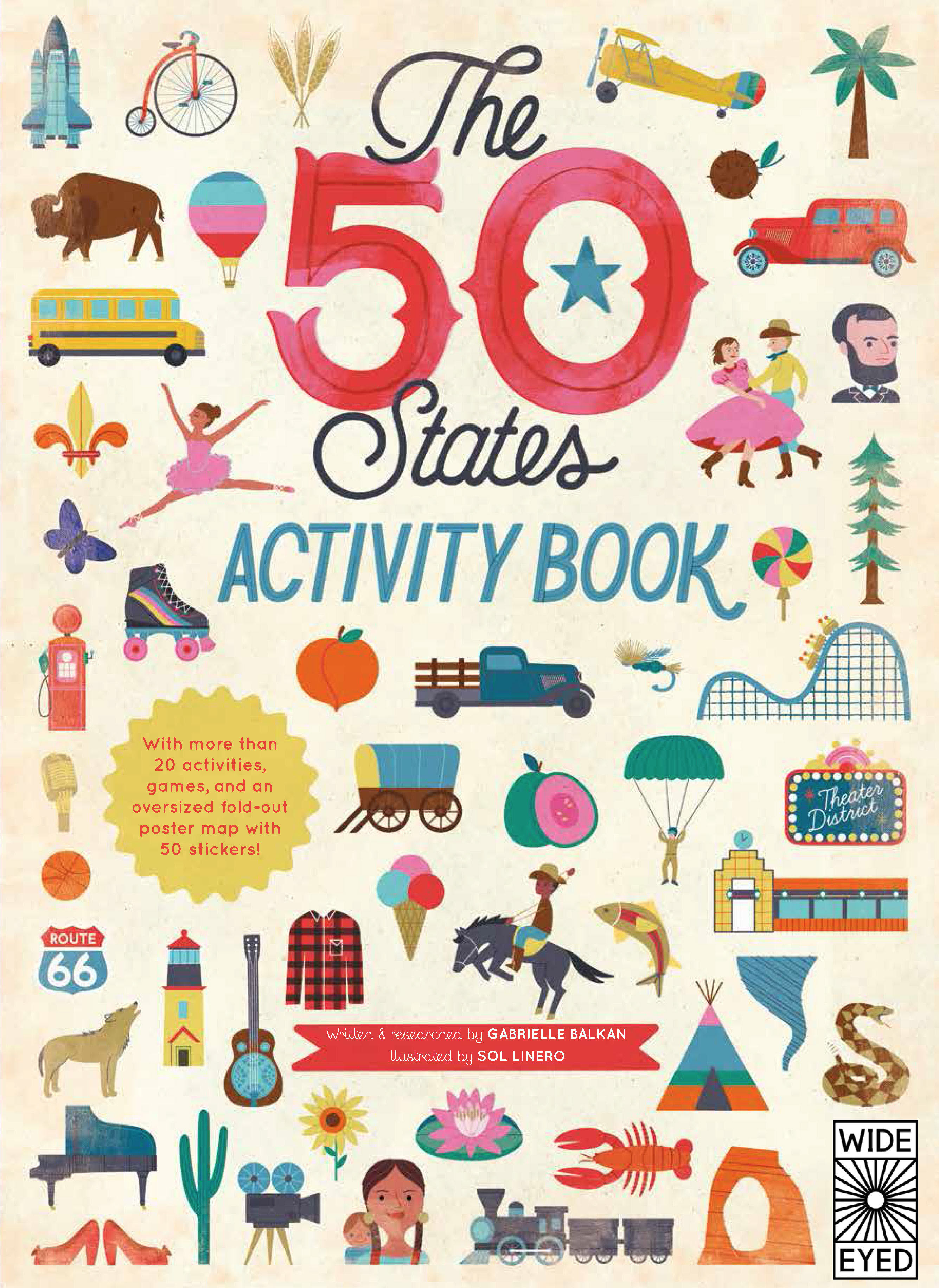 THE 50 STATES: ACTIVITY BOOK : MAPS OF THE 50 STATES OF THE USA