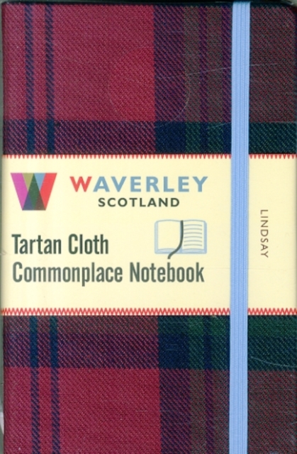 LINDSAY: WAVERLEY GENUINE TARTAN CLOTH COMMONPLACE NOTEBOOK (9CM X 14CM)
