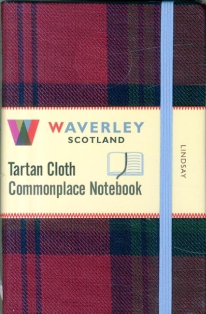 LINDSAY: WAVERLEY GENUINE TARTAN CLOTH COMMONPLACE NOTEBOOK (9CM X 14CM)