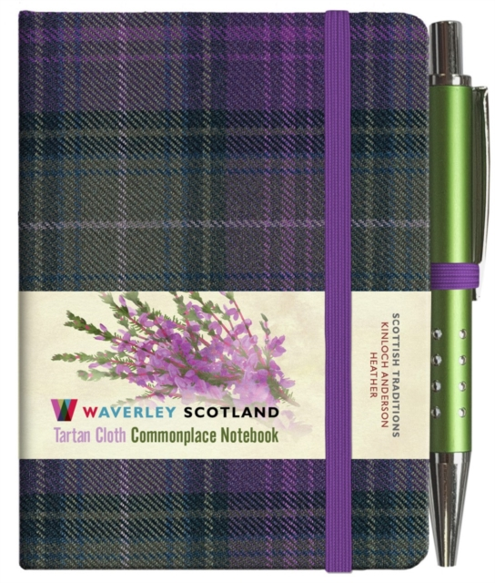 HEATHER TARTAN: MINI NOTEBOOK WITH PEN